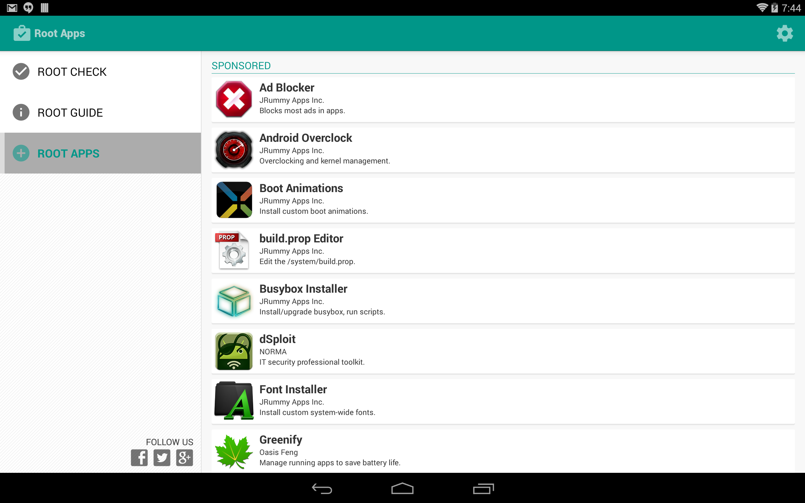 Tablet Root Apps
